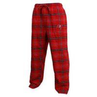 NFL Tampa Bay Buccaneers Men's Large Flannel Plaid Pajama Pant with Left Leg Team Logo