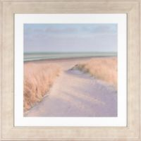 Pastel Beach 30.13-Inch x 29.88-Inch Framed Wall Art
