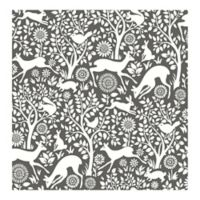 A-Street Prints Meadow Animals Wallpaper in Charcoal