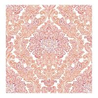A-street Prints Fontaine Damask Wallpaper in Orange
