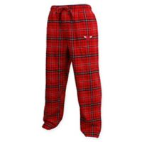 NBA Chicago Bulls Men's Extra-Large Flannel Plaid Pajama Pant with Left Leg Team Logo