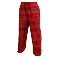 NBA Chicago Bulls Men's 2XL Flannel Plaid Pajama Pant with Left Leg Team Logo