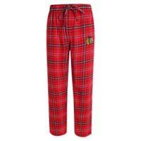 NHL Chicago Blackhawks Men's XXL Flannel Plaid Pajama Pant with Left Leg Team Logo