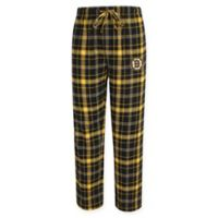 NHL Boston Bruins Men's Small Flannel Plaid Pajama Pant with Left Leg Team Logo