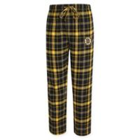 NHL Boston Bruins Men's Large Flannel Plaid Pajama Pant with Left Leg Team Logo