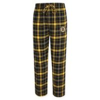 NHL Boston Bruins Men's Extra Large Flannel Plaid Pajama Pant with Left Leg Team Logo