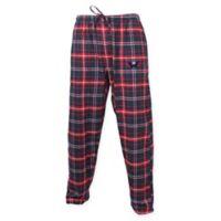 NHL Chicago Blackhawks Men's Large Flannel Plaid Pajama Pant with Left Leg Team Logo