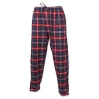NHL Washington Capitals Men's Small Flannel Plaid Pajama Pant with Left Leg Team Logo
