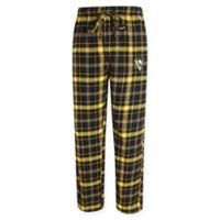 NHL Pittsburgh Penguins Men's Small Flannel Plaid Pajama Pant with Left Leg Team Logo