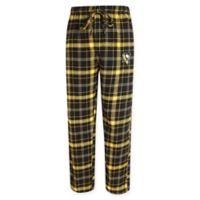 NHL Chicago Blackhawks Men's Extra Large Flannel Plaid Pajama Pant with Left Leg Team Logo