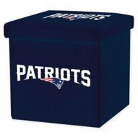 NFL New England Patriots Storage Ottoman