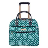 Jenni Chan Aria Broadway Snow Flake 18-Inch Rolling Business Tote in Green