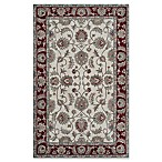 Rugs America New Dynasty 5' x 8' Area Rug in Ivory/Burgundy