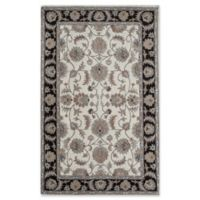 Rugs America New Dynasty 2'3 x 8' Runner in Ivory/Charcoal
