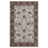 Rugs America New Dynasty 2'3 x 8' Runner in Ivory/Burgundy