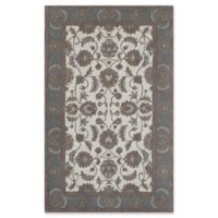 Rugs America New Dynasty 2'3 x 8' Runner in Ivory/Light Blue
