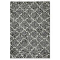 Rugs America Quatrefoil 8' x 10' Shag Area Rug in Grey/Ivory