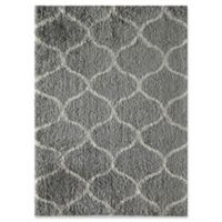 Rugs America Links 2' x 4' Shag Accent Rug in Grey/Ivory