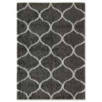 Rugs America Links 2' x 4' Shag Accent Rug in Charcoal/Ivory