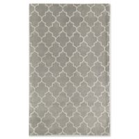 Rugs America Delano Lattice 5' x 8' Handcrafted Area Rug in Silver
