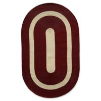 Rugs America Plymouth Braid 4' x 6' Area Rug in Burgundy