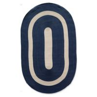 Rugs America Plymouth Braid 4' x 6' Area Rug in Navy