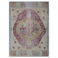Rugs America Asteria Floral Medallion 4' x 6' Area Rug in Red