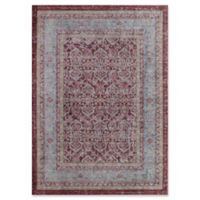 Rugs America Asteria Floral Border 4' x 6' Area Rug in Red