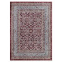 Rugs America Asteria Floral Border 2'3 x 8' Runner in Red
