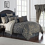 Waterford® Gabion Reversible Queen Comforter Set in Indigo/Taupe