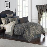 Waterford® Gabion Reversible King Comforter Set in Indigo/Taupe