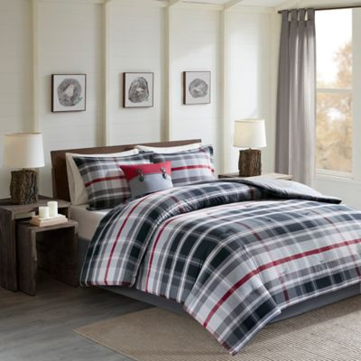 Buy Black and Red Comforter from Bed Bath & Beyond