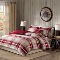 Woolrich® Sheridan Full Comforter Set in Tan/Red