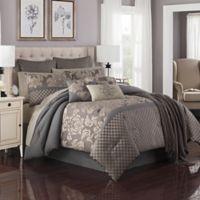 Hanley 14-Piece Queen Comforter Set in Grey