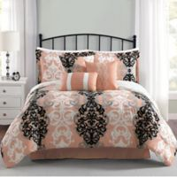 Carmela Home Downtown 7-Piece Queen Reversible Comforter Set