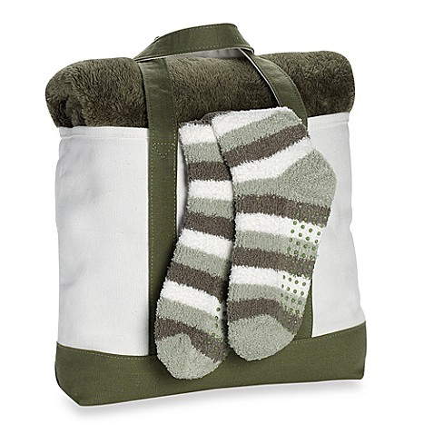 Cozy Combo Throw And Socks Tote Gift Set Ivy Bed Bath