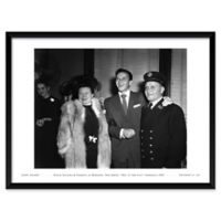 Frank Sinatra with His Parents 37-Inch x 25-Inch Framed Wall Art