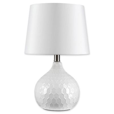 Attractive Globe Electric Caddie 17 Inch 1 Light LED Ceramic Table Lamp In White