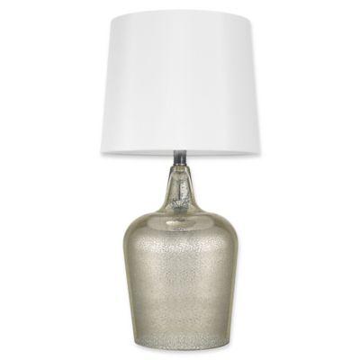 Globe Electric Quinn 24 Inch 1 Light LED Glass Table Lamp