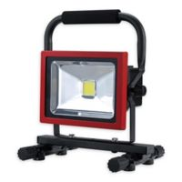 Globe Electric Ultra-Bright Rechargeable LED Work Light in Red