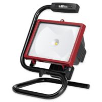 Globe Electric 1-Light LED Integrated Work Light in Red