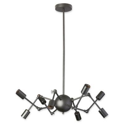 Buy matte black chandeliers from bed bath beyond dainolite 8 light chandelier in matte black aloadofball Image collections