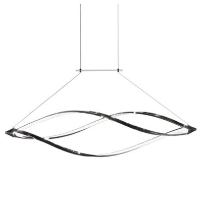 Buy instant pendant lights from bed bath beyond dainolite 1 light flush mount led horizontal pendant light with swooped arms in polished aloadofball Images
