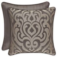 J. Queen New York™ Astoria Embroidered Square Throw Pillow in Mink
