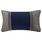 Waterford® Gabion Breakfast Throw Pillow in Indigo/Taupe