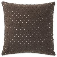 Waterford® Gabion Beaded Throw Pillow in Brown/Taupe