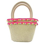 Toby™ XOXO Multi-Pom Straw Bag