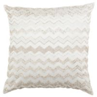 Safavieh Olivia Square Throw Pillow in Pearl