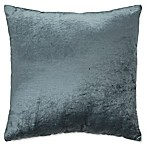 Plush Nest Velvet/Linen Square Throw Pillow in Aegean