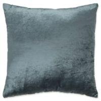 Plush Nest Velvet/Linen Square Throw Pillow in Aegean